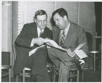 Huey Long Going Over Papers Close-up