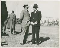 Huey Long with LSU Coach Moore