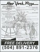 New York Pizza restaurant menu