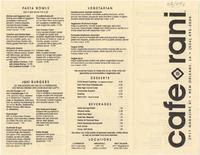 Cafe Reconcile restaurant menu