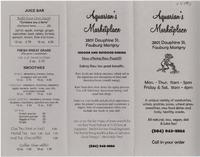 Aquarian's Marketplace restaurant menu