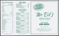Mr. Ed's restaurant menu