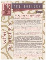 PJ's Coffee of New Orleans newsletter