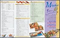 Miyako Japanese Seafood & Steak House restaurant menu