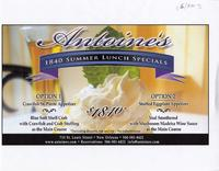 Antoine's 1840 summer lunch specials