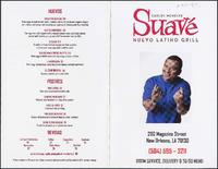 Suavé restaurant menu