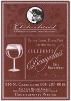 Celebrate Beaujolais flyer