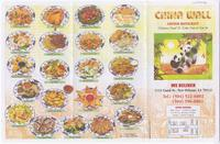China Wall menu
