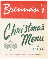 Brennan's Christmas menu
