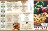 Fresco Café & Pizzeria menu