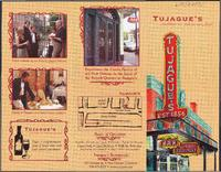 Tujague's restaurant brochure