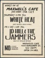 Maxwell's Cafe advertisement