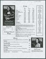 Mona Lisa restaurant menu