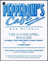 Pepperoni's Café restaurant menu