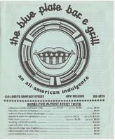 The Blue Plate Bar & Grill menu