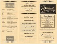 Cafe Giovanni restaurant menu