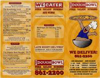 Dough Bowl menu