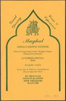 Mughal India's Exotic Cuisine restaurant advertisement