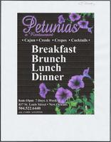 Petunia's restaurant advertisement
