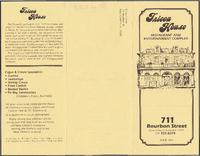 Tricou House restaurant pamphlet