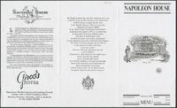 Napoleon House restaurant menu