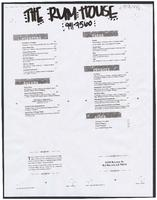 The Rum House restaurant menu