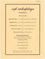 Café Atchafalaya restaurant brunch menu