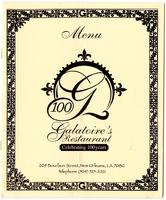 Galatoire's restaurant menu