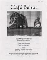 Cafe Beirut restaurant menu