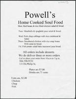 Powell's Home Cooked Soul Food restaurant menu