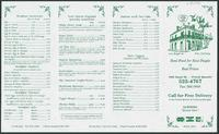 The Verte Marte restaurant menu