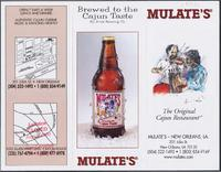 Mulate's Cajun restaurant advertisement