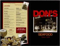 Don's Seafood Hut menu