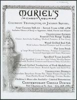 Muriel's Jackson Square restaurant thanksgiving menu