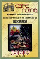 Cafe Roma delivery menu door flyer