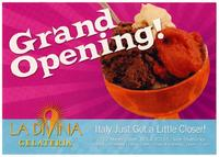 La Divina Gelateria restaurant advertisement