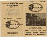 Allgood restaurant and bar advertisement