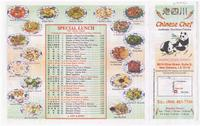 Chinese Chef menu