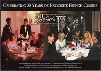 Louis XVI 30th anniversary flyer and menu
