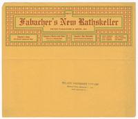 Fabacher's New Rathskeller advertisement