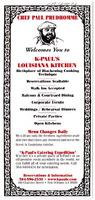 K-Paul's Louisiana Kitchen restaurant advertisement