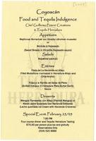 Coyoacan Food and Tequila Indulgence menu