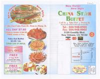 China Star Buffet menu