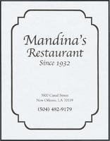Mandina's Restaurant Sunday menu