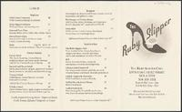 Ruby Slipper Cafe restaurant menu