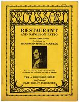 Broussard Restaurant and Napoleon Patio Menu