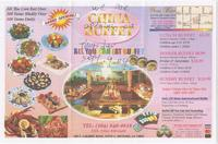 China Buffet menu