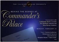 Commander's Palace invitation