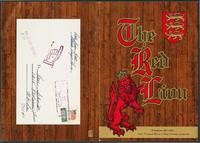 The Red Lion restaurant menu