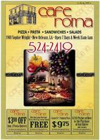 Cafe Roma restaurant menu